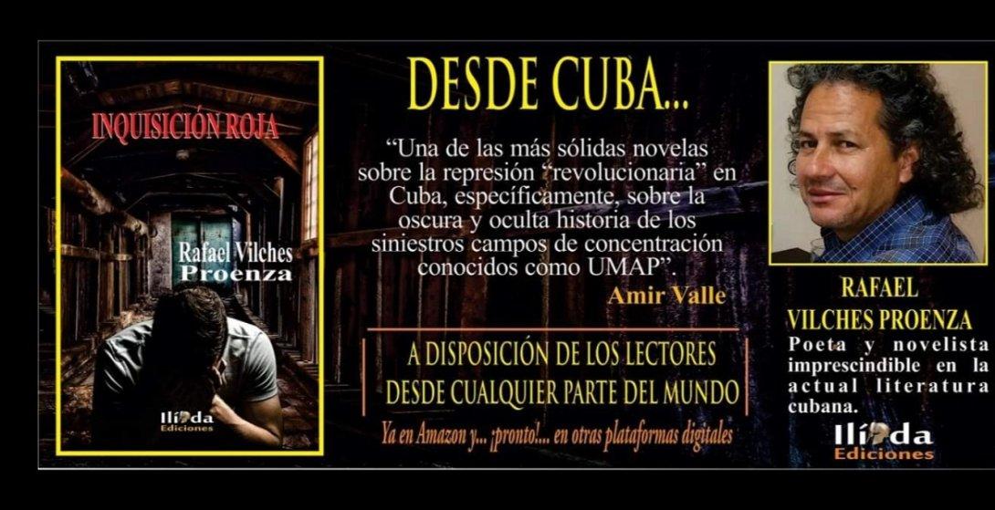 Promoción de la novela Inquisión roja, de Rafael Vilhes.