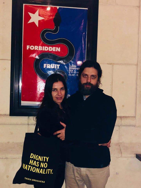 La actriz Lynn Cruz y el cineasta Miguel Coyula.