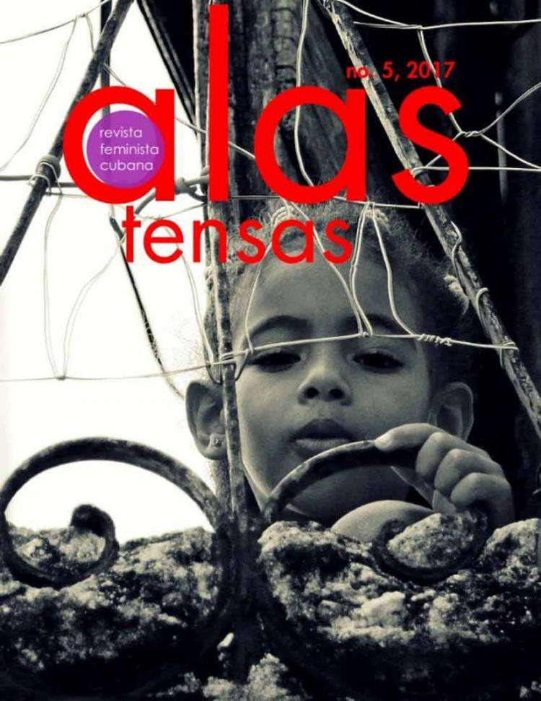 "Portada de la revista feminista cubana ""Alas tensas"", # 5"
