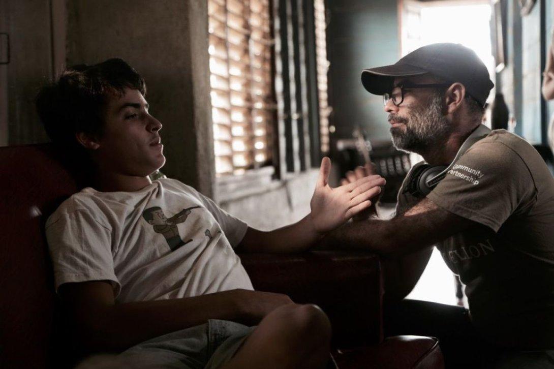 """Damián González, actor, y Armando Capó, director de """"Agosto""""."""