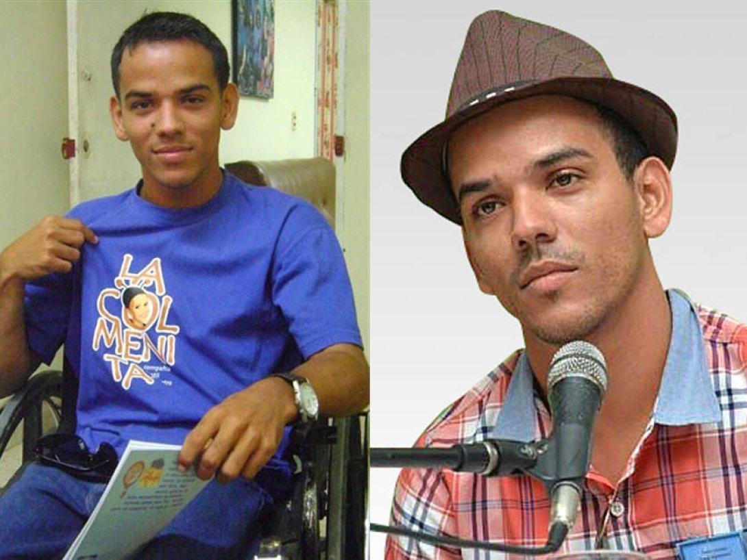 El joven escritor Hector Luis Leyva