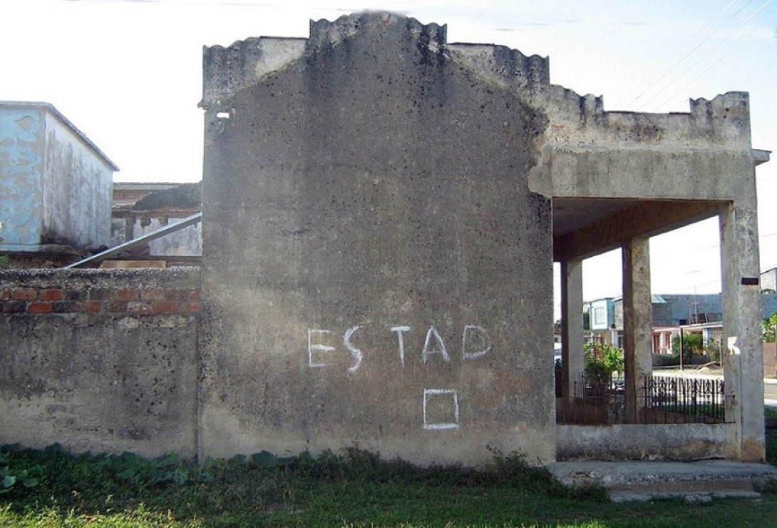 """Estado"", zona de strike de béisbol callejero en Cuba - Graffiti"