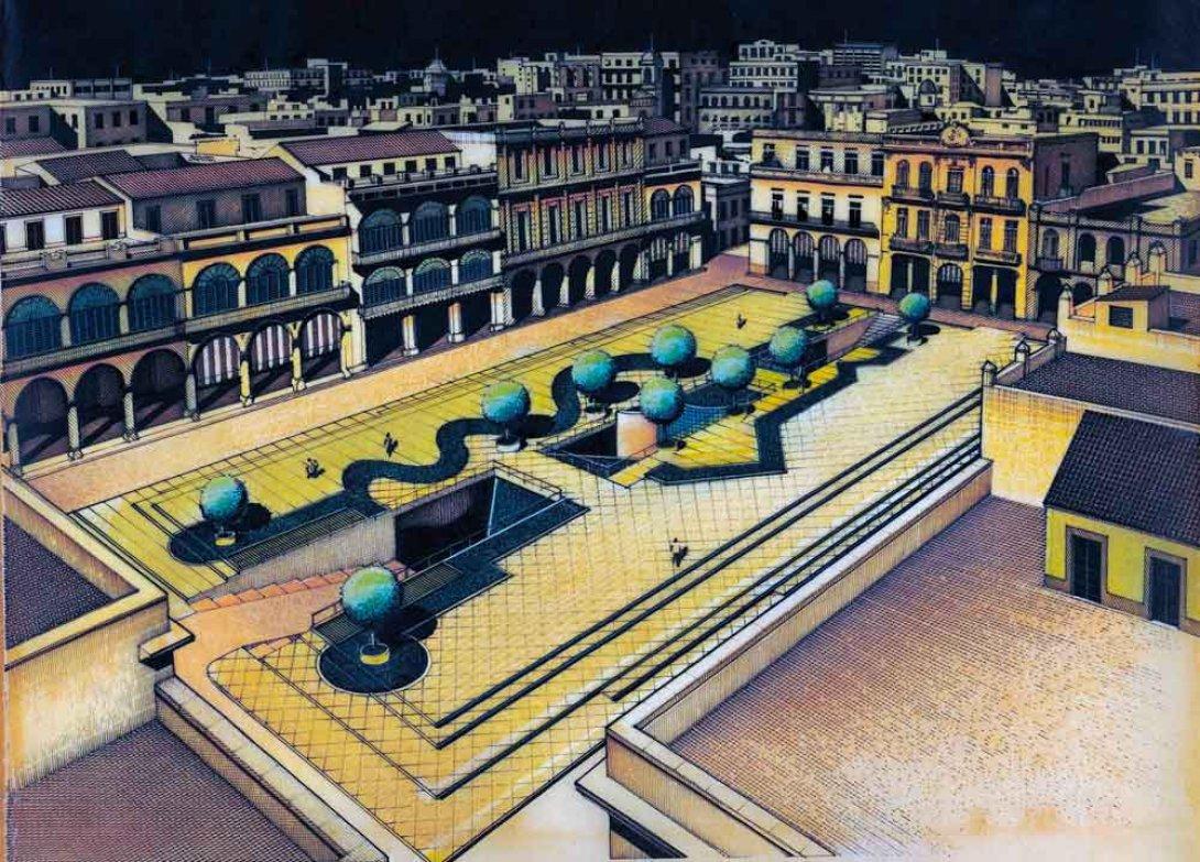 Felicia Chateloin y Patricia Rodríguez, Proyecto renovación de la Plaza Vieja, 1986