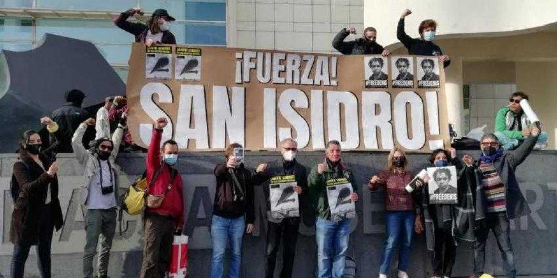 Cubanos en Barcelona solidarios con San Isidro