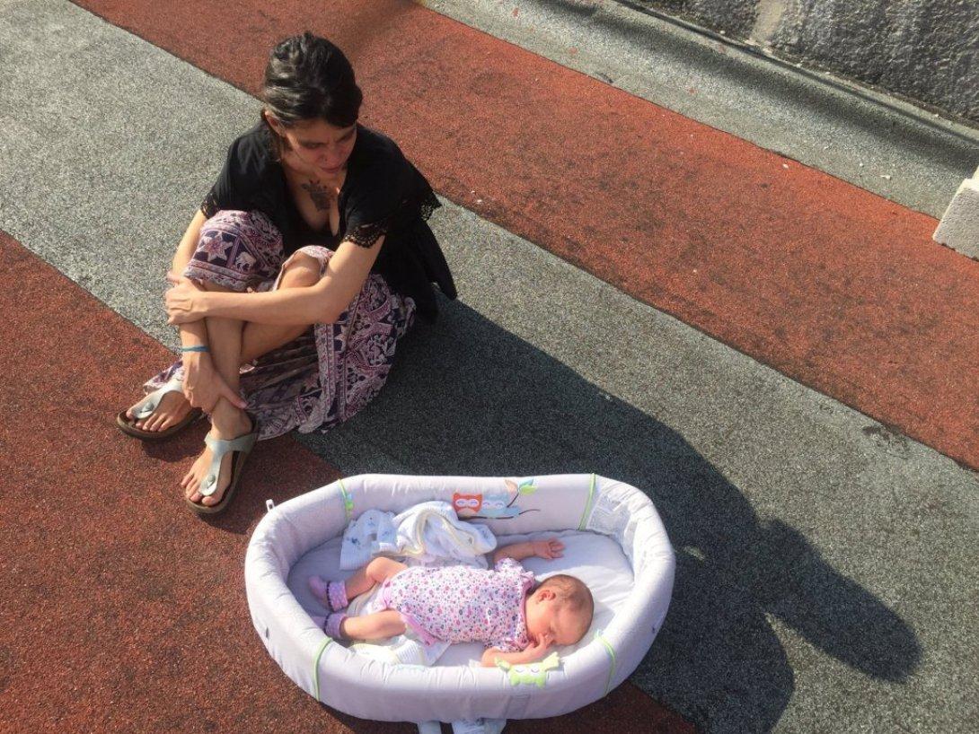 Marta María Ramírez y su bebé, Nina.