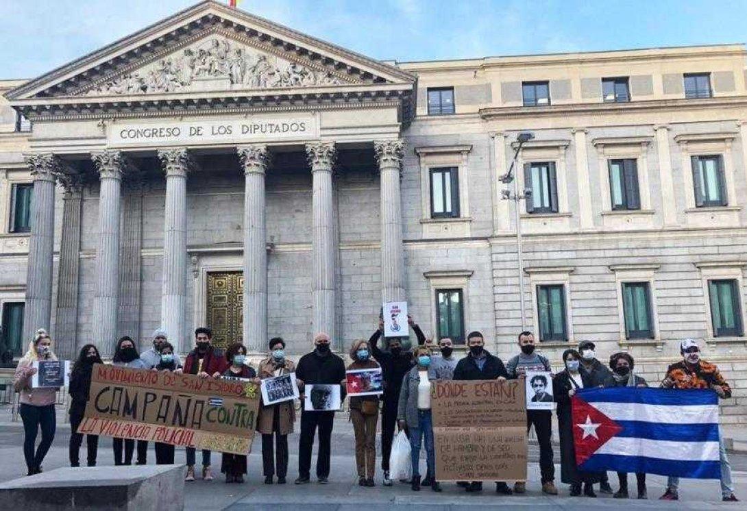 Protesta en Madrid, día 2