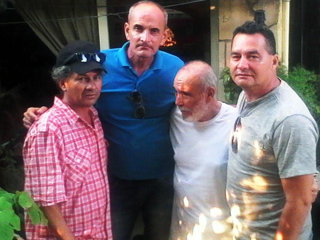 Escritores cubanos Rafael Vilches, Nelton Pérez, Rafael Alcides y Ángel Santiesteban.
