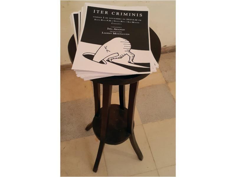 """Afiches de la exposición """"Iter Criminis""""."""