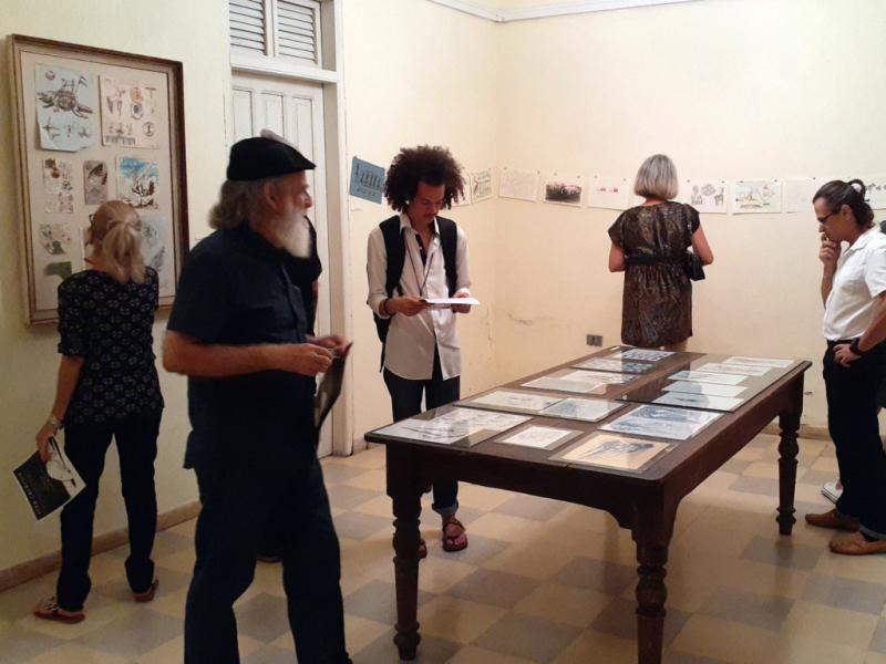 """Inauguración  de la exposición """"Iter Criminis""""."""