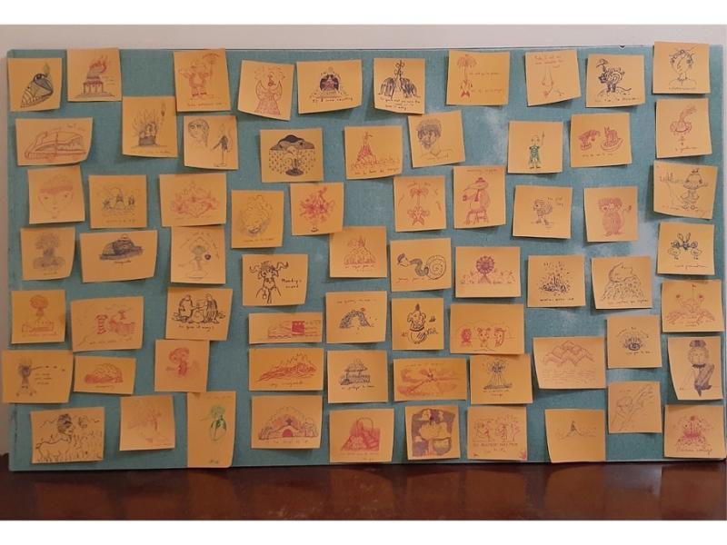 """Obras de la exposición """"Iter Criminis""""."""