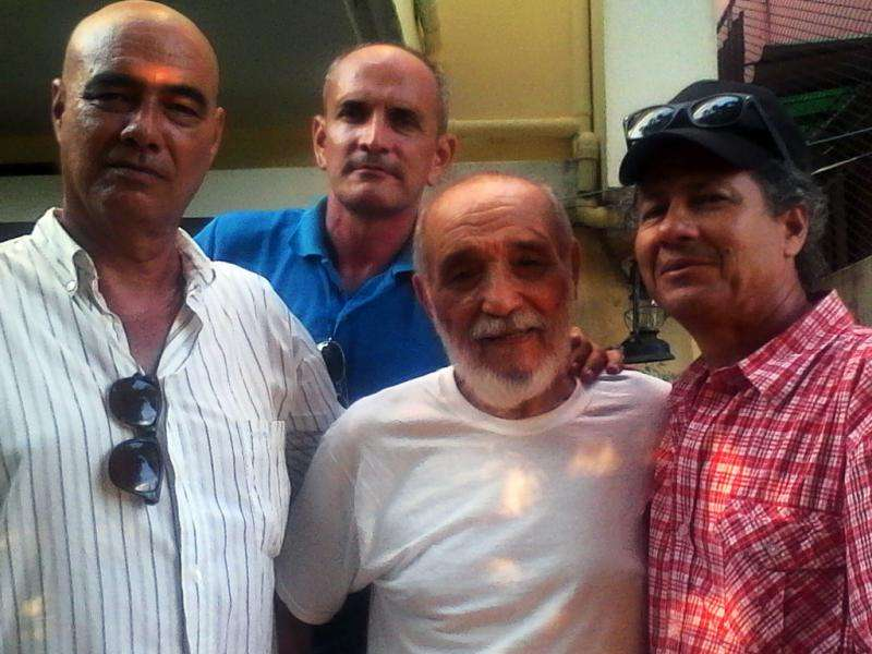 Escritores Jorge Ángel Pérez, Nelton Pérez, Rafael Alcides (fallecido) y Rafael Vilches.