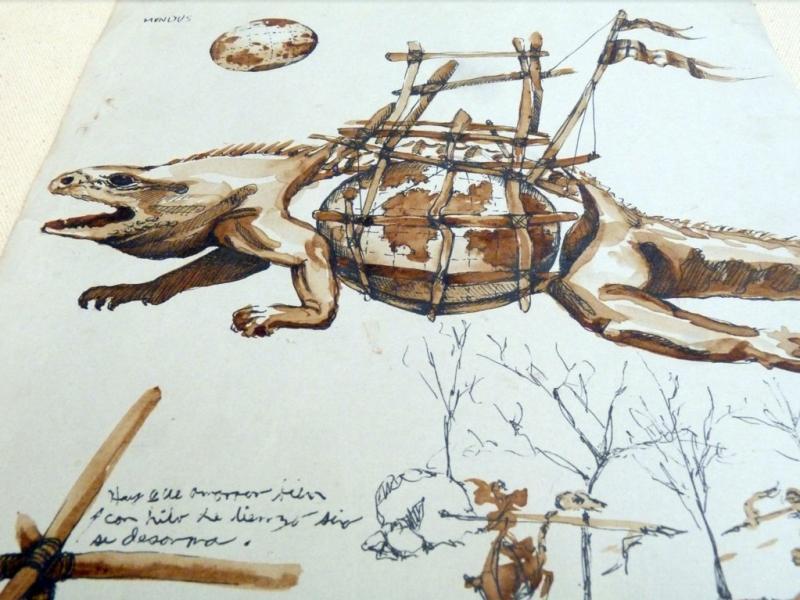 """Detalle de uno de los """"bichos"""" de Alí Hamouni (1990)."""