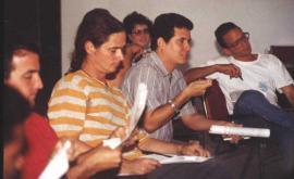 Amir Valle, como profesor en el taller Onelio Jorge Cardoso