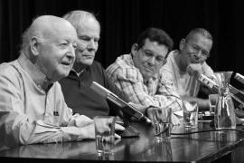 Feria del Libro de Berlín. Jorge Edwards, Hans Christoph Buch, Amir Valle y Marko Martin.