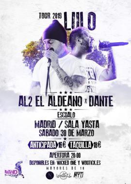 Cartel de Al2, El Aldeano, gira España 2019