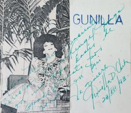 Dedicatoria de Gunilla, al director Miguel Ángel Fraga, Sanatorio Santiago de las Vegas, 1993. Foto: Miguel Ángel Fraga.