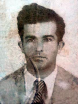 Francisco Ortega, foto de su carné de la Asociación Canaria.