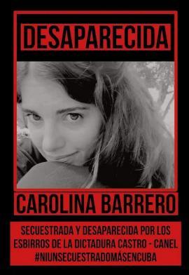Cartel: Desaparecida Carolina Barrero