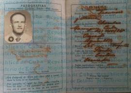 Página principal del pasaporte de Francisco Ortega Hernández.